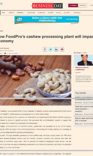 how-foodpros-cashew-processing-plant-will-impact-economy
